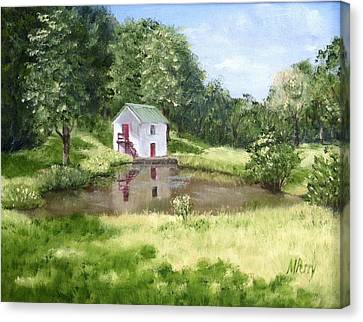 White Springhouse Canvas Print