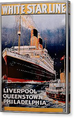 White Star Line Poster 1 Canvas Print