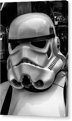 White Stormtrooper Canvas Print by David Doyle
