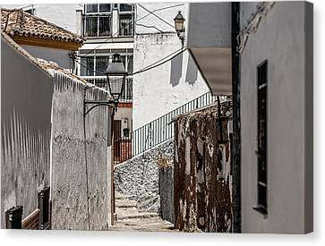 Spanish House Canvas Print - White Streets Of Ronda. Andalusia. Spain by Jenny Rainbow