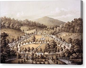 Virginia Canvas Print - White Sulphur Springs, Montgomery County, Va by Edward Beyer