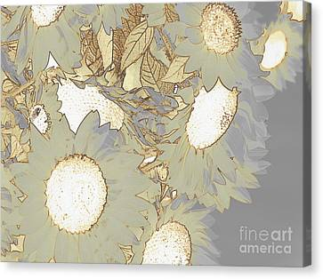 White Swan Canvas Print by France Laliberte
