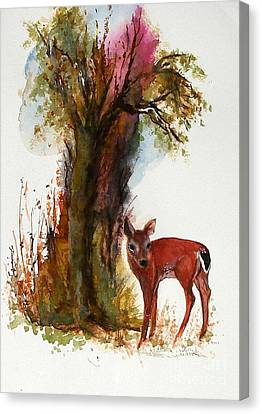 White Tail Canvas Print by Sibby S