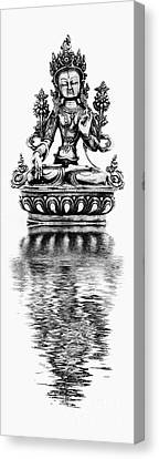 White Tara Deity Canvas Print by Tim Gainey