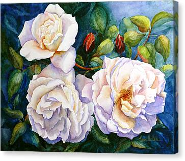White Teas Rose Tree Canvas Print