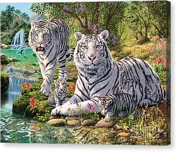 White Tiger Clan Canvas Print by Steve Read