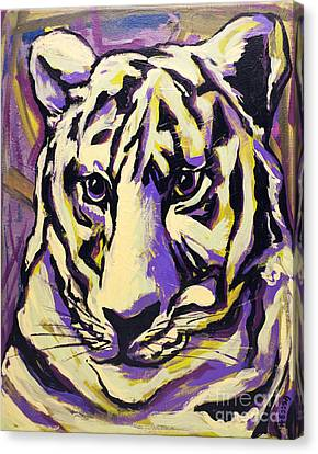White Tiger Not Canvas Print by Becca Lynn Weeks