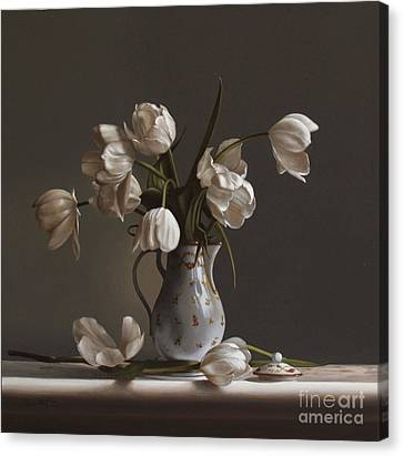 White Tulips Canvas Print by Larry Preston