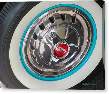 White Wall Tire And Spinners Canvas Print by Barbara Snyder