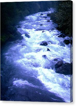 White Water Canvas Print by J D Owen