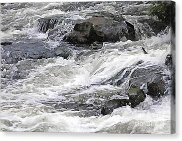 White Water Canvas Print by Lutz Baar