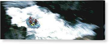 White Water Rafting Salmon River Ca Usa Canvas Print by Panoramic Images