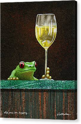 White Wine Canvas Print - White Wine Bar Hopping... by Will Bullas