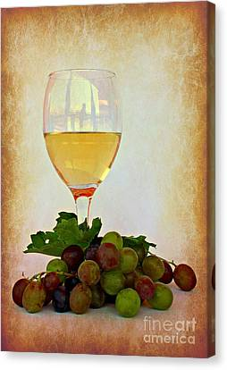 White Wine Canvas Print by Clare Bevan