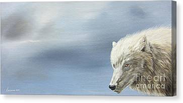 White Wolf Canvas Print by Laurianna Taylor