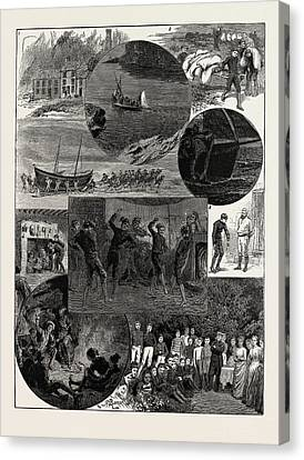 Ghost Story Canvas Print - Whitechapel In Wales, How Five Medical Students Took by Litz Collection