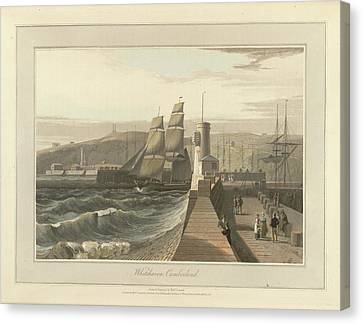 Whitehaven Port In Cumberland Canvas Print