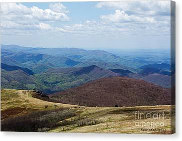 Whitetop Mountain Virginia Canvas Print by Laurinda Bowling