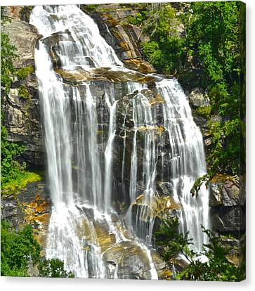 Marvelous View Canvas Print - Whitewater Falls by Frozen in Time Fine Art Photography