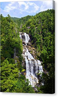 Whitewater Falls Canvas Print by Susan Leggett