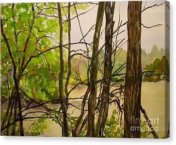 Whitewater Memorial State Park Canvas Print by Katrina West