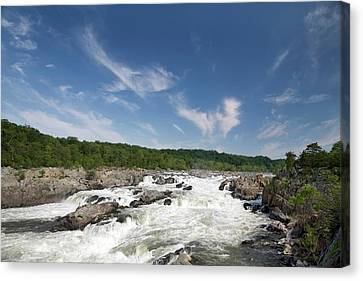 Whitewater On The Potomac River Canvas Print