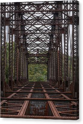 Whitford Railway Truss Bridge Canvas Print by Richard Reeve