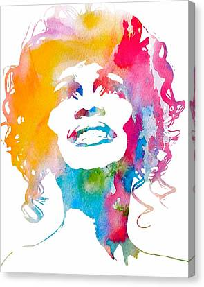 Whitney Houston Canvas Print by Dan Sproul