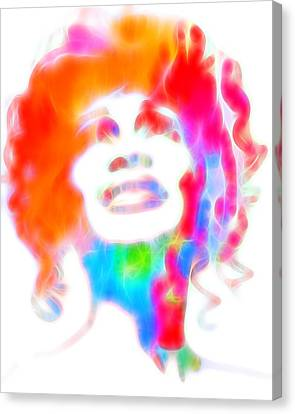 Whitney Houston Glowing Canvas Print by Dan Sproul