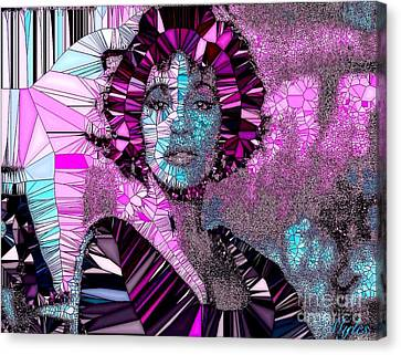 Whitney Houston I Love You Mosaic Canvas Print by Saundra Myles