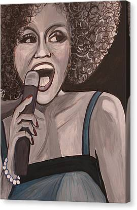 Whitney Houston Canvas Print by Kate Fortin