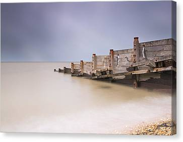 Whitstable Beach - Penguins Canvas Print by Ian Hufton