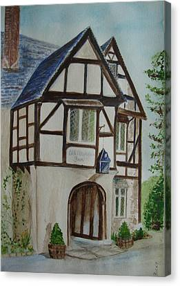 Whittington Inn - Painting Canvas Print by Veronica Rickard