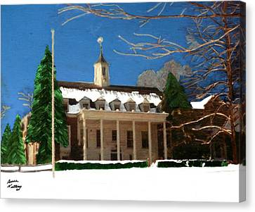 Whittle Hall In The Winter Canvas Print