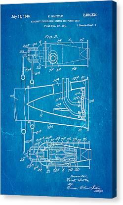 Whittle Jet Engine Patent Art 2 1946 Blueprint  Canvas Print by Ian Monk