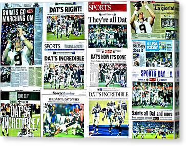 Who Dat Headlines Canvas Print by Benjamin Yeager
