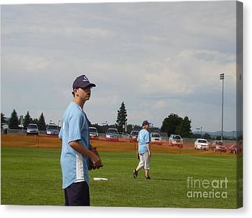 Who Has The Ball Canvas Print by Valerie Shaffer