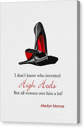 Who Invented High Heels? Canvas Print by Rebecca Jenkins