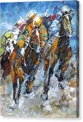 Who Is Really Winning Canvas Print by Mary Armstrong