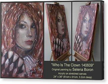 Who Is The Clown 140609 Canvas Print by Selena Boron