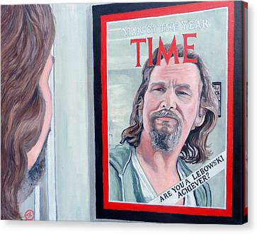 Canvas Print featuring the painting Who Is This Guy by Tom Roderick