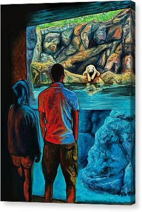 Who Is Watching Whom Canvas Print by Peter Jackson
