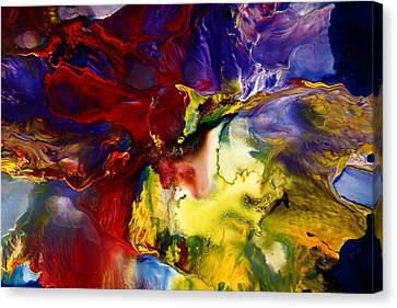 Who Knows Modern Abstract Art Canvas Print by Serg Wiaderny