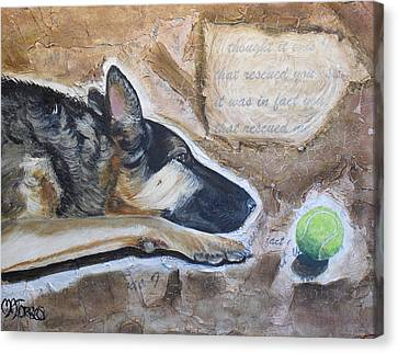 Who Rescued Who Canvas Print by Melissa Torres