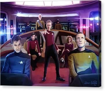 Star Trek Canvas Print - Who Trek by Brett Hardin