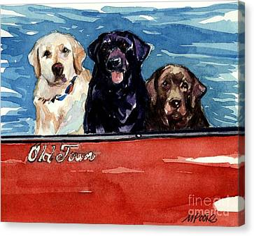Chocolate Canvas Print - Whole Crew by Molly Poole