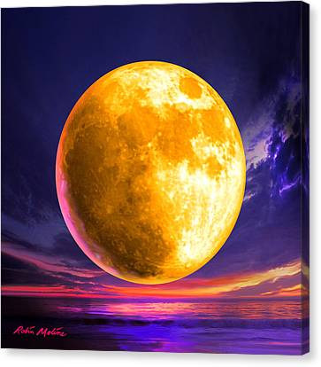 Whole Of The Moon Canvas Print by Robin Moline