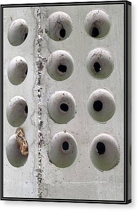 Wholly Holes 1 Canvas Print by Marlene Burns