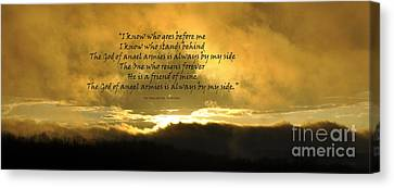 Whom Shall I Fear Canvas Print by Diane E Berry