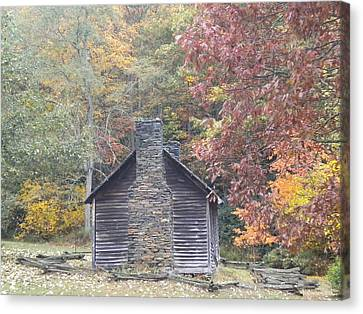 Canvas Print featuring the photograph Whorley Homeplace At Rocky Knob Cabins Blue Ridge Parkway by Diannah Lynch